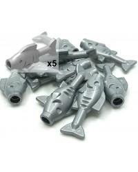 LEGO® Graufisch x5 Piratenfutter