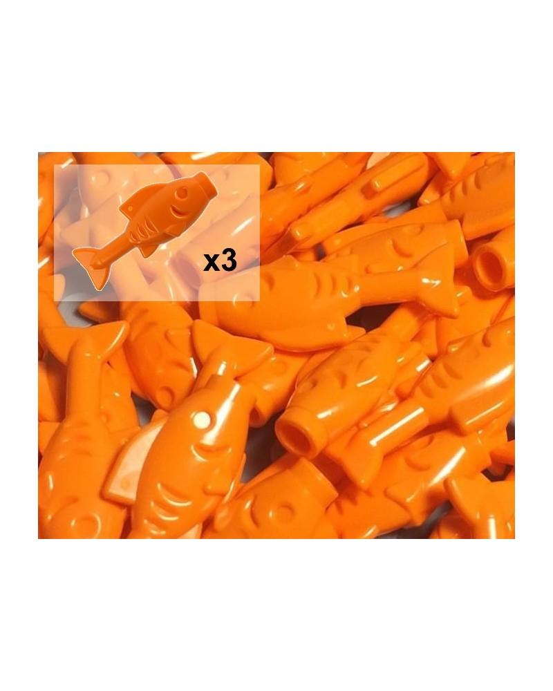 LEGO® orange goldfish fish x3 sea and beach 64648