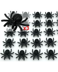 3x LEGO® schwarze Spinne für Halloween-Insekten