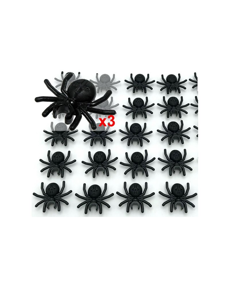 3x LEGO® black spider for Halloween insect 30238
