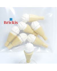 7x LEGO® ice cream vanilla
