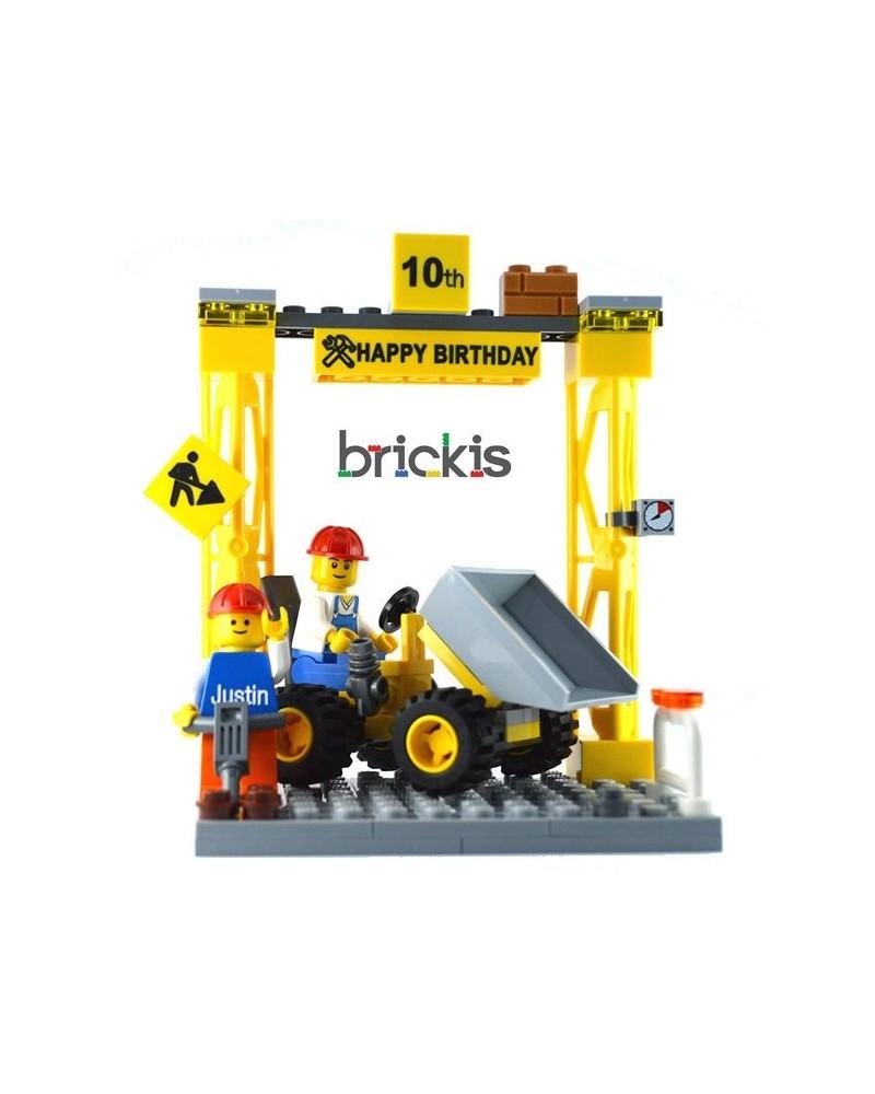 Fantastic Lego Dumper Cake Topper Birthday Funny Birthday Cards Online Elaedamsfinfo