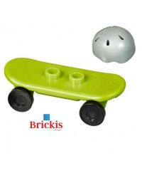 LEGO® skateboard + helm