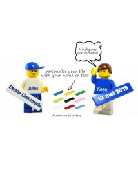 LEGO® Tile 1x4 with text