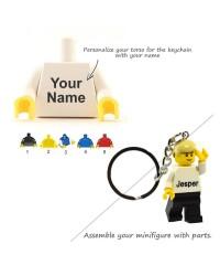 Torso para llavero LEGO® minifigura con tu nombre