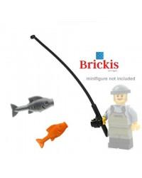 Caña de pescar LEGO® + 2 peces