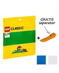 LEGO® Bouwplaat 32x32 studs 25x25cm + GRATIS seperator