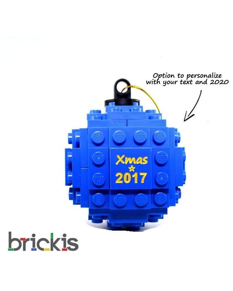LEGO ® Kerstmis bal gegraveerd versiering