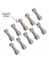 10x LEGO® LIGHTSABER Star Wars wapenhandvat zilver metallic