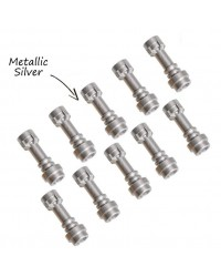 10x LEGO® LIGHTSABER Star Wars weapon hilt metallic silver