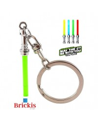 LEGO® keychain Lightsaber Star Wars Chrome Silver hilt