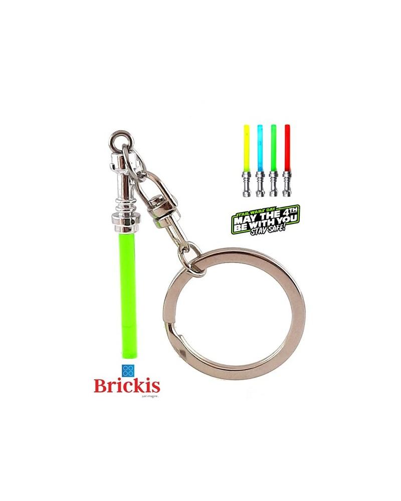 LEGO® sleutelhanger Lightsaber Star Wars Chrome Silver handvat