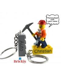 LEGO ® sleutelhanger gepersonaliseerd met uw naam