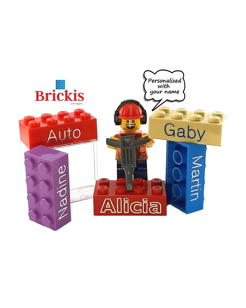 Ladrillo LEGO® grabado personalizado con tu nombre