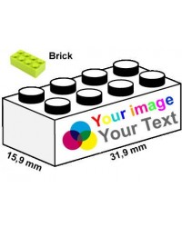 LEGO® bricks 2x4 printed
