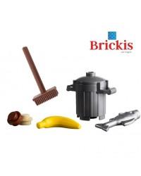 LEGO® mini set poubelle avec balai poisson banane