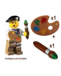 LEGO® PINCEAU + PALETTE pour peintre