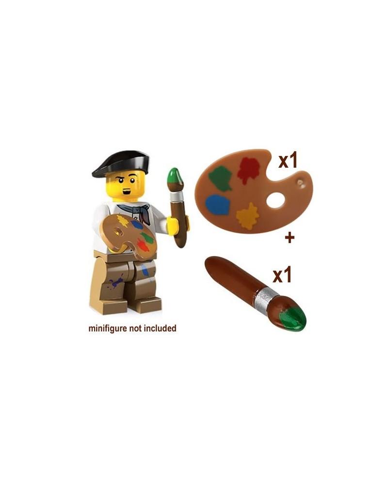 LEGO® PENSEEL + PALET voor schilder