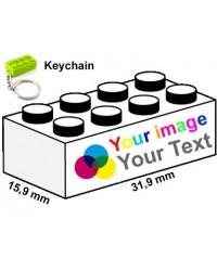 LEGO® keychains 2x4 printed
