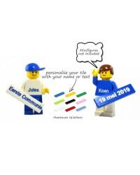 LEGO® Tile 1x6 mit Text