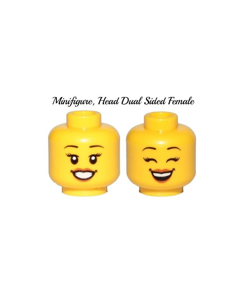 LEGO® minifiguren weiblicher Kopf doppelseitig