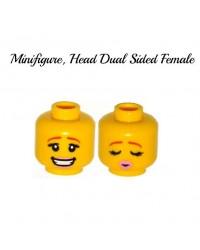 LEGO® cabeza femenina de doble cara para minifiguras