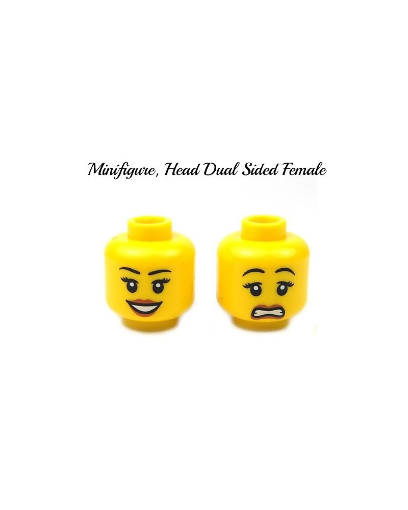 LEGO® minifiguren vrouwelijk hoofd dubbelzijdig