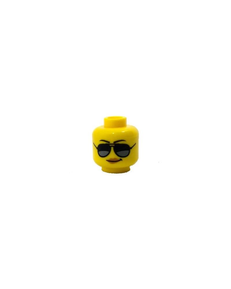 LEGO® minifiguren weiblicher Kopf Sonnenbrille