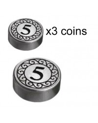 LEGO® 3x Zilveren munten 5 Dollar geld