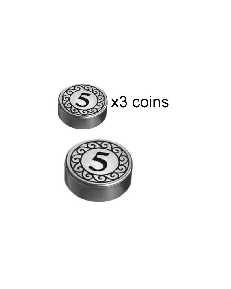 3x pièces d'Argent LEGO® 5 dollars