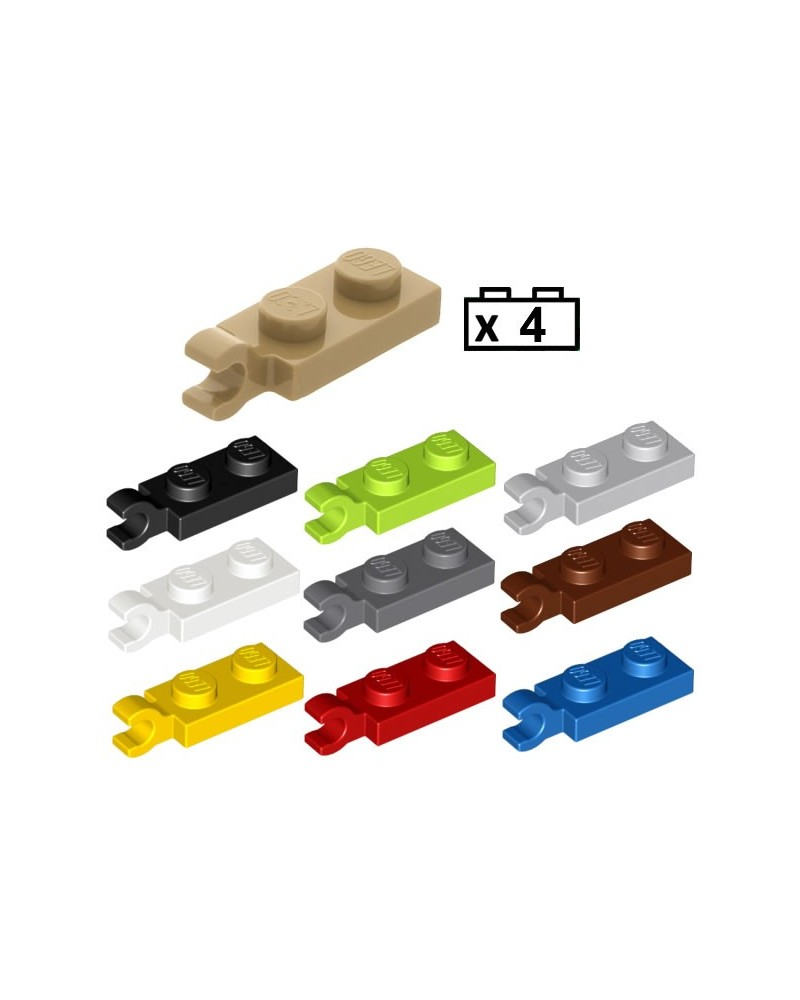 LEGO® 4x Plaat, Modified 1 x 2 with Clip on End (Horizontal Grip) 63868