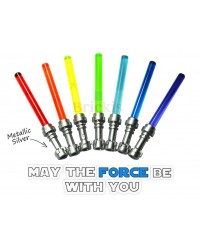 4 LEGO® LIGHTSABER Star Wars Metallic Silver Hilt different colors