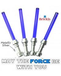 Lichtschwert 4 LEGO® LIGHTSABER Star Wars Metallic Silver Griff Trans Purple