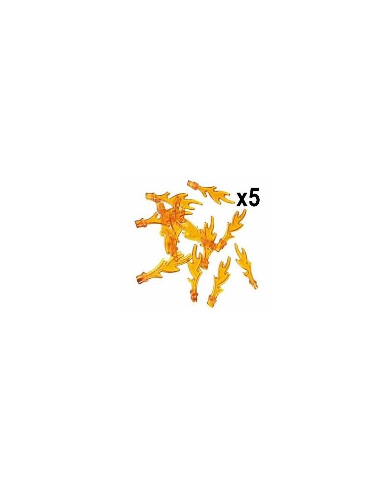 LEGO® 5X VLAMMEN 3 cm trans orange 6126b