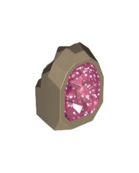 LEGO® JEWEL Dark Tan Rock 1 x 1 Geode 49656pb03