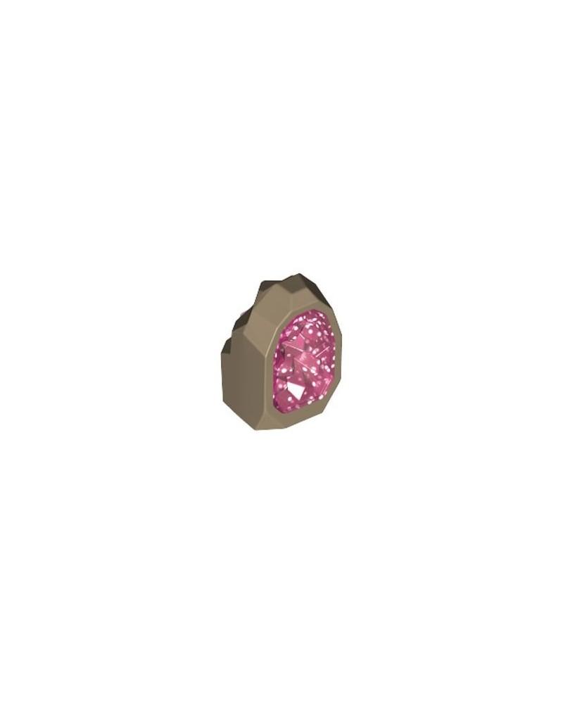 LEGO® JEWEL Dark Tan Rock 1 x 1 Geode 49656pb03