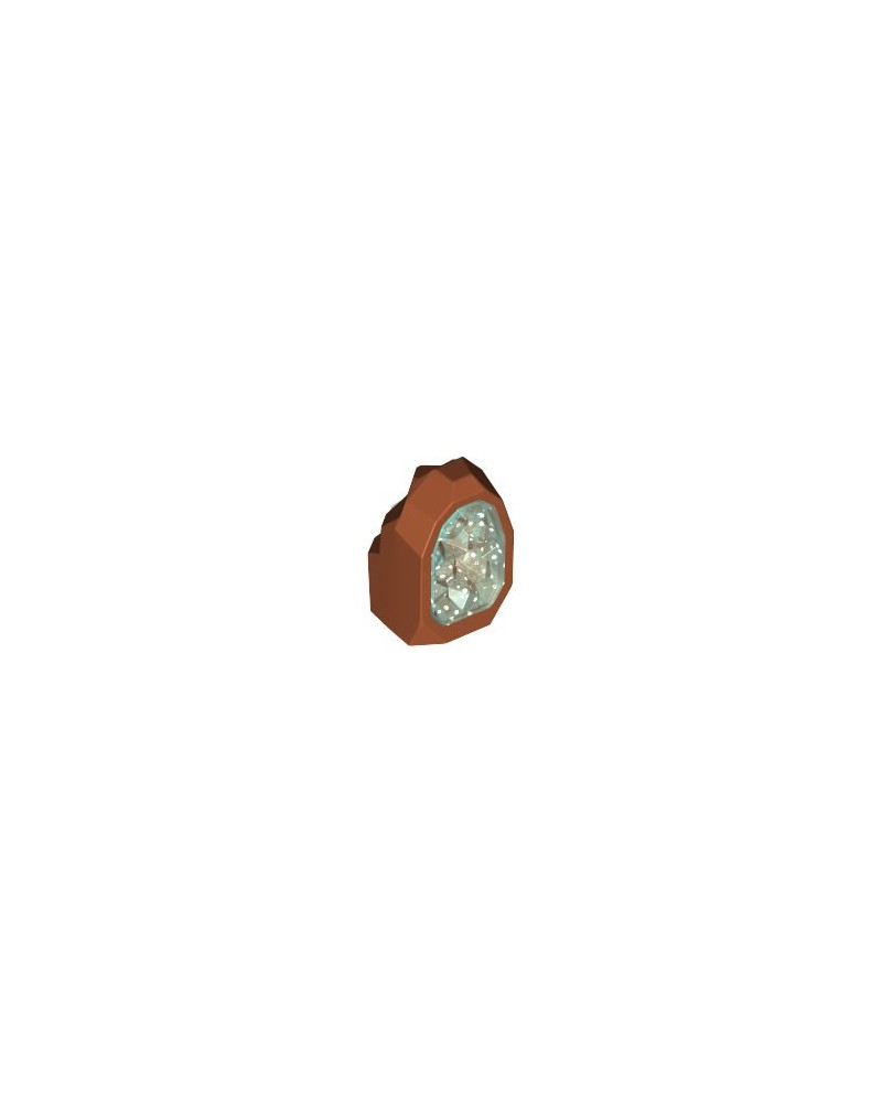LEGO® JEWEL Dark ORANGE Rock Trans-Light Blue Crystal 49656pb03