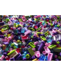 50x LEGO® Friends bricks all are pastel colors