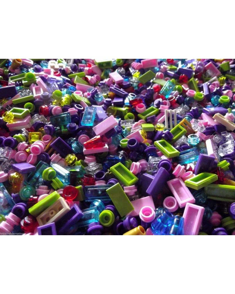 50x LEGO®  Friends steentjes alle zijn pastel kleuren