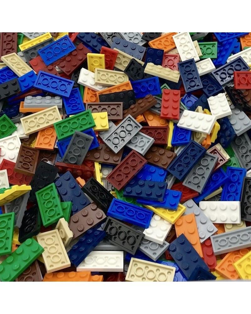 20x plates LEGO® 2x4 couleurs différentes