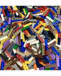 20 planos LEGO® 1x4 de diferentes colores