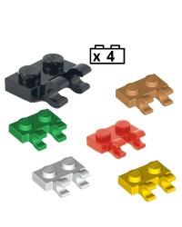 LEGO® 4x Platten, Modified 1 x 2 with 2 Open O Clips (Horizontal Grip) 60470b