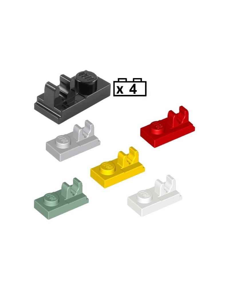 LEGO® 4x Platten, Modified 1 x 2 mit Clip on Top 92280