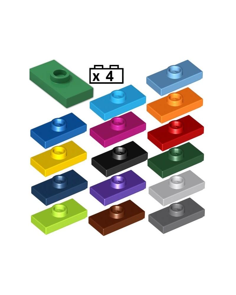 LEGO® 4x Platten, Modified 1 x 2 mit Groove and Bottom Stud Holder (Jumper) 15573