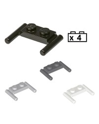 LEGO® 4x Platten, Modified 1 x 2 mit Bar Handles - Flat Ends, Low Attachment 3839b