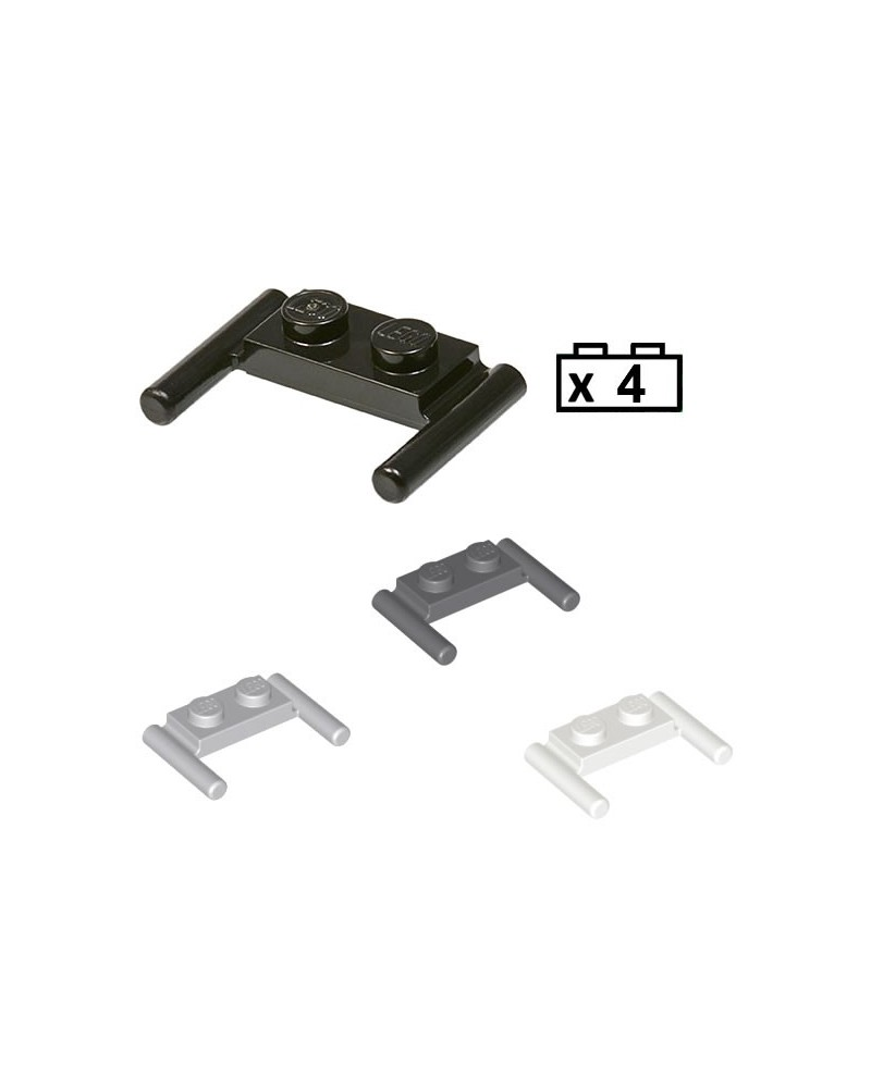 LEGO® 4x Plate, Modified 1 x 2 with Bar Handles - Flat Ends, Low Attachment 3839b