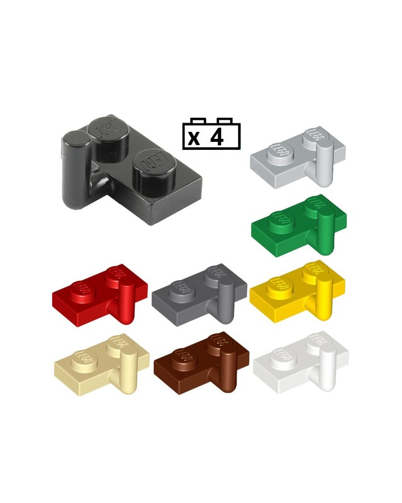 LEGO® 4x Plate, Modified 1 x 2 with Bar Arm Up (Horizontal Arm 5mm) 4623b