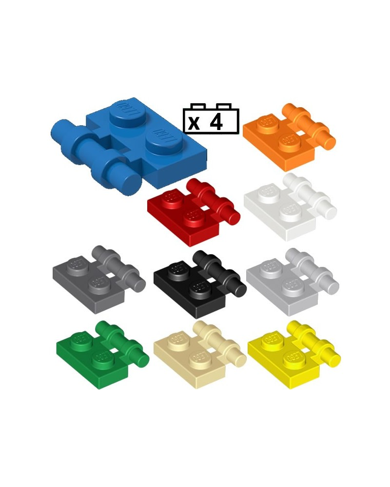 LEGO® 4x Plate, Modified 1 x 2 with Bar Handle on Side with Free Ends 2540