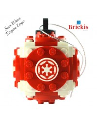 LEGO® ornament for Christmas with Star Wars Empire Logo for the Xmas tree