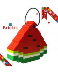 LEGO® Ornament Wassermelone für Weihnachten oder Tischdekoration